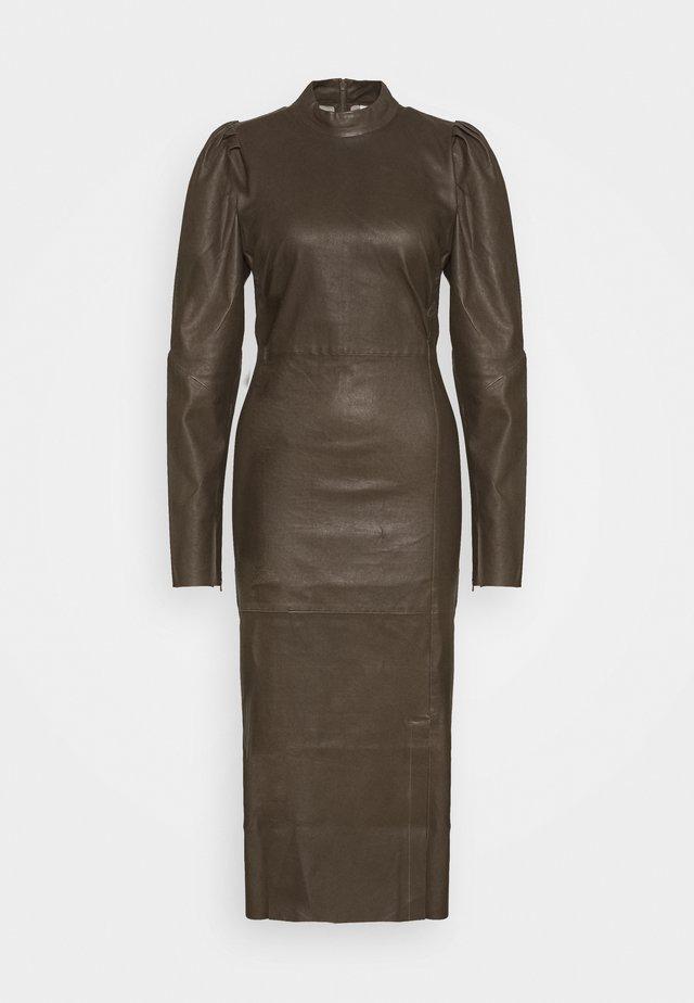 VILEA DRESS - Shift dress - dark olive