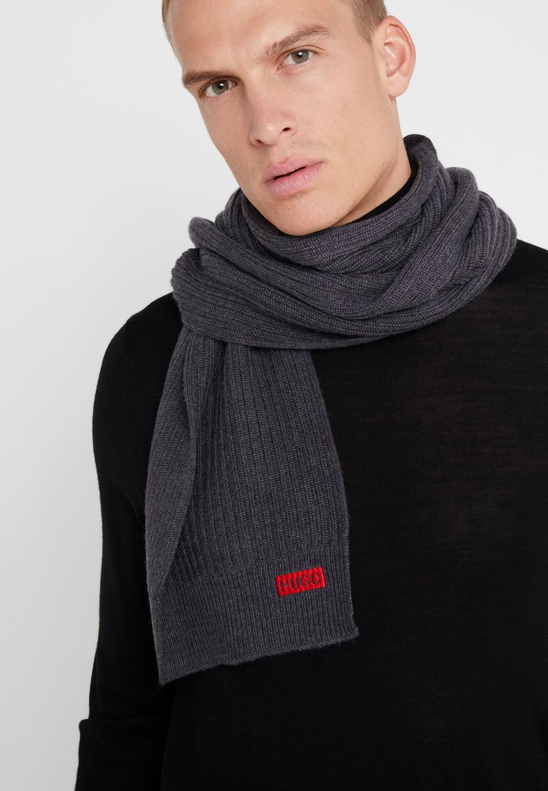 HUGO - ZAPPON  - Scarf - dark grey