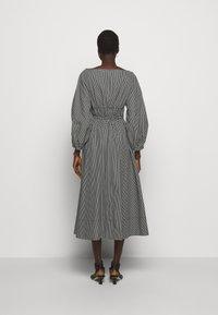 Proenza Schouler White Label - YARN DYE PLAID DRESS - Day dress - black/white - 2