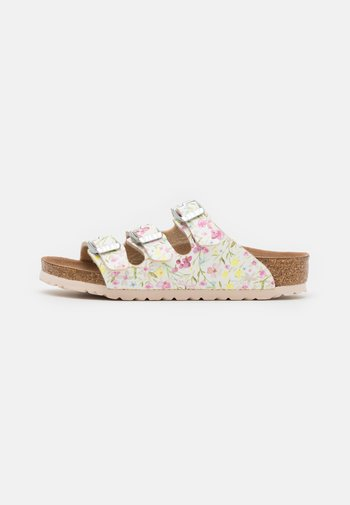 FLORIDA WATERCOLOR FLOWER - Domácí obuv - white