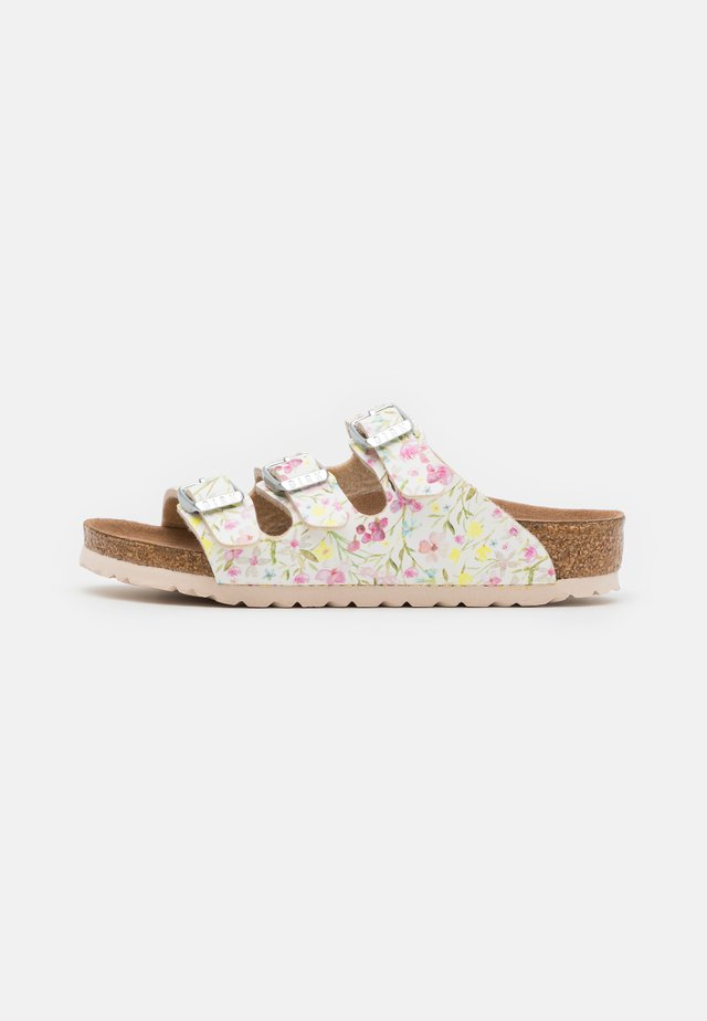 FLORIDA WATERCOLOR FLOWER - Pantuflas - white