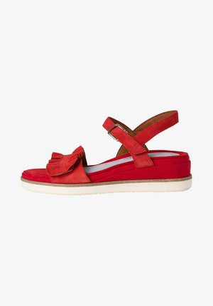 Sandalen met sleehak - sangria