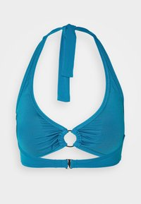MICHAEL Michael Kors - ICONIC SOLIDS HALTER - Bikinitop - lux teal - 1