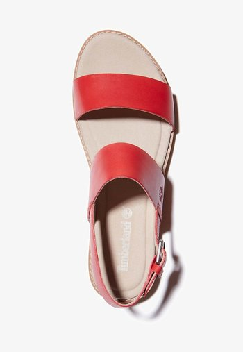 Ankle cuff sandals - cayenne