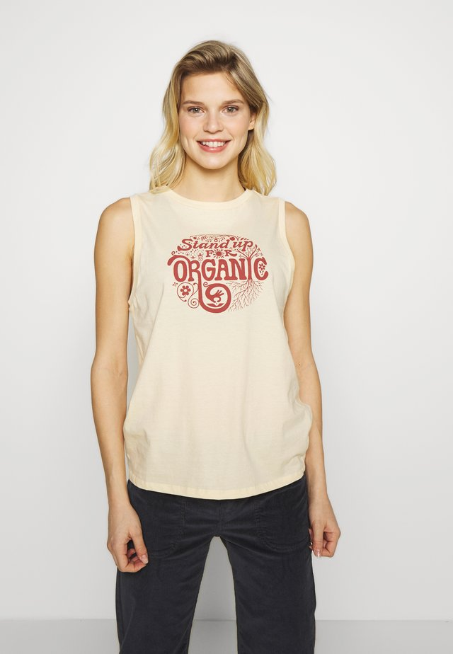 ROOT REVOLUTION MUSCLE TEE - Toppi - vela peach