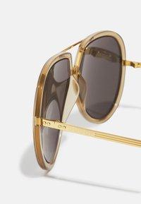 Gucci - UNISEX - Sunglasses - green/gold-coloured/grey - 3