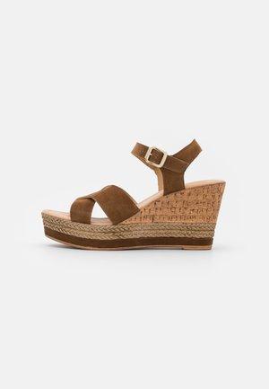 Sandalen met plateauzool - noce