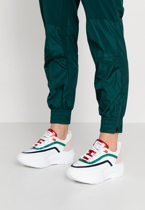Trainers - white/blue/green