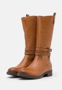 Friboo - Vysoká obuv - cognac - 1