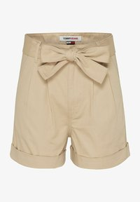 Tommy Jeans - TJW MOM BELTED  - Szorty - beige - 2