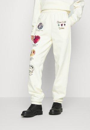 STONE JEWELS JOGGERS - Pantalon de survêtement - ecru