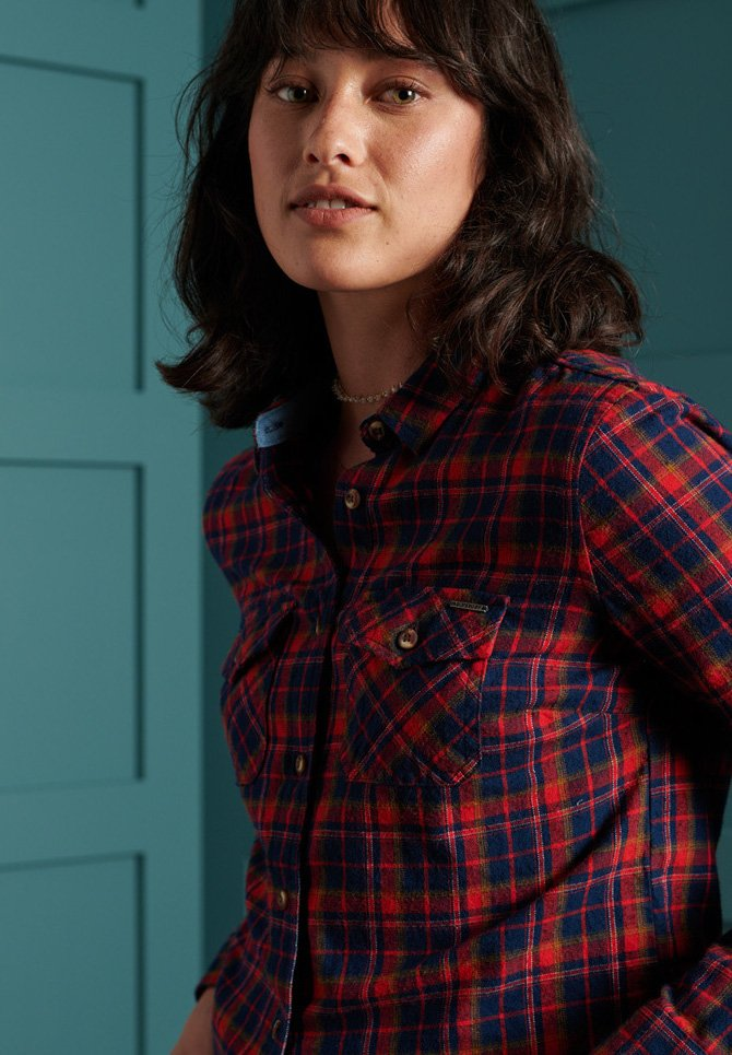 Superdry - Chemisier - red check