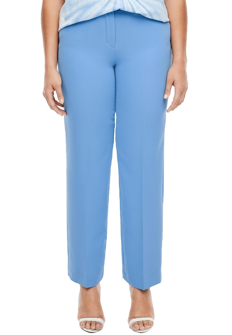 Triangle - REGULAR FIT: STRAIGHT LEG-HOSE - Trousers - blue