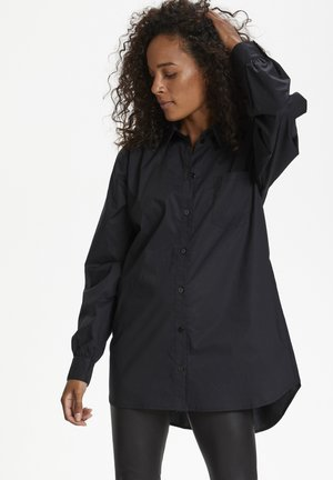 Button-down blouse - meteorite