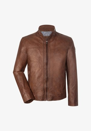Leather jacket - dunkel cognac