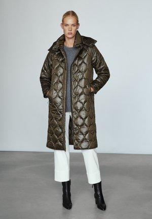 MIT ABNEHMBARER KAPUZE - Winter coat - khaki