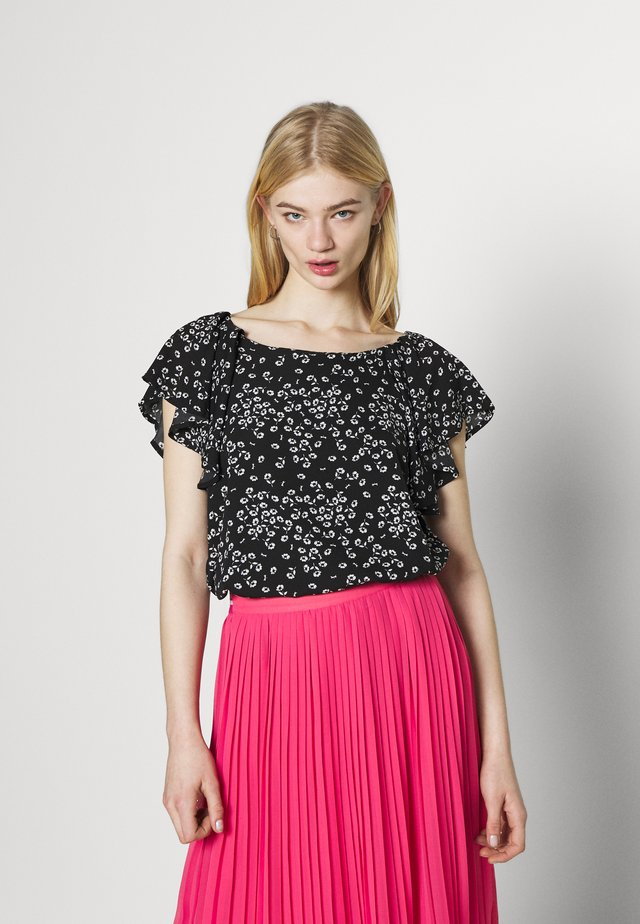 Blouse - butterfly black