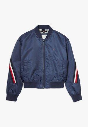 GLOBAL STRIPE TAPED - Bomber Jacket - blue