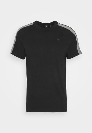 SPORT TAPE LOGO + R T S\S - T-shirts med print - black