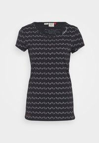 Ragwear - ZIG ZAG - T-shirts med print - black - 3