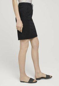 TOM TAILOR - Pencil skirt - deep black - 3