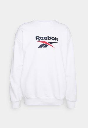 VECTOR CREW - Sweatshirt - white/vector navy/vector red