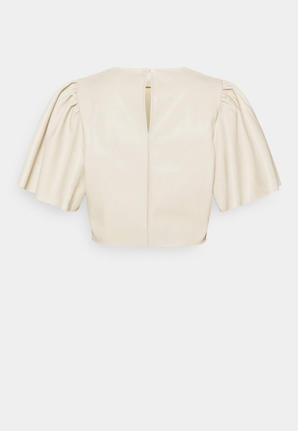 Nly by Nelly BUTTERFLY SLEEVE - Bluzka - beige/beżowy RNEP
