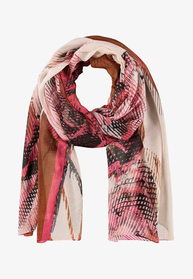 MIT ROSENMUSTER - Sjaal - braun/lila/pink druck