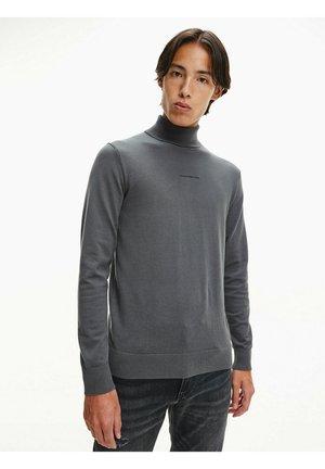 ROLL NECK  - Pullover - gray pinstripe