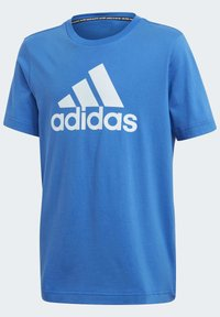 adidas Performance - MUST HAVES  BADGE OF SPORT T-SHIRT - T-shirt print - blue - 2