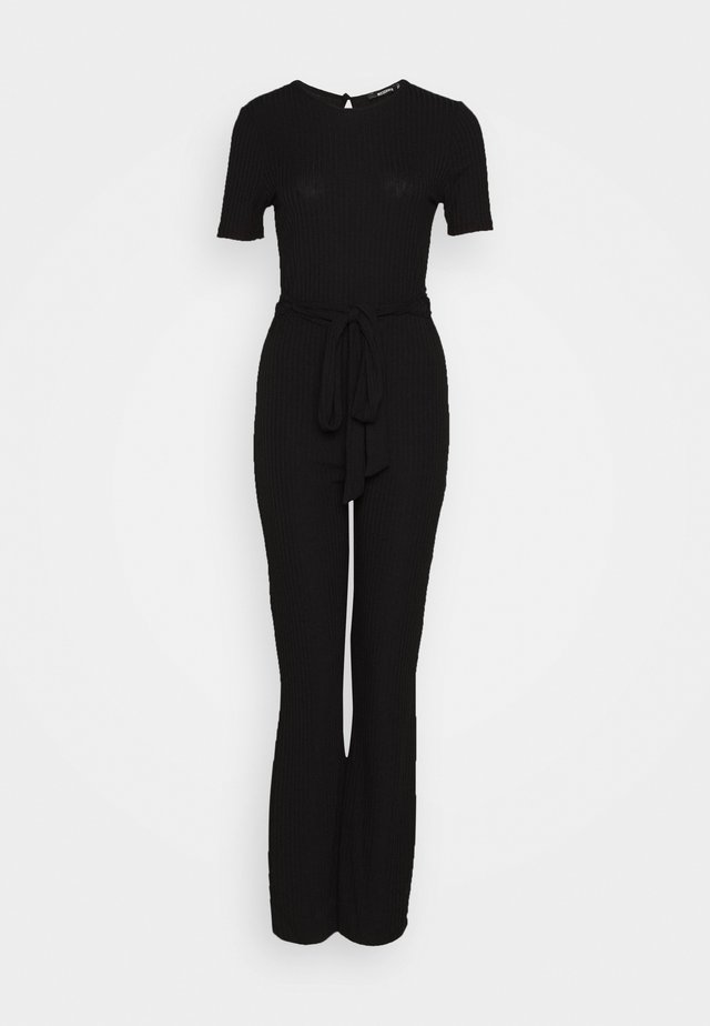 SHORT SLEEVE FLARE LEG - Overall / Jumpsuit - black