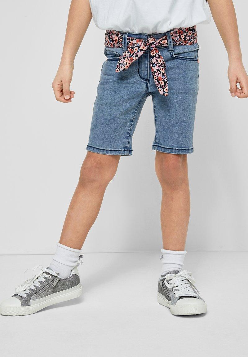 s.Oliver - Denim shorts - light blue