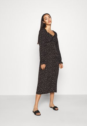 MILKMAID MIDI DRESS DITSY - Vestido informal - black