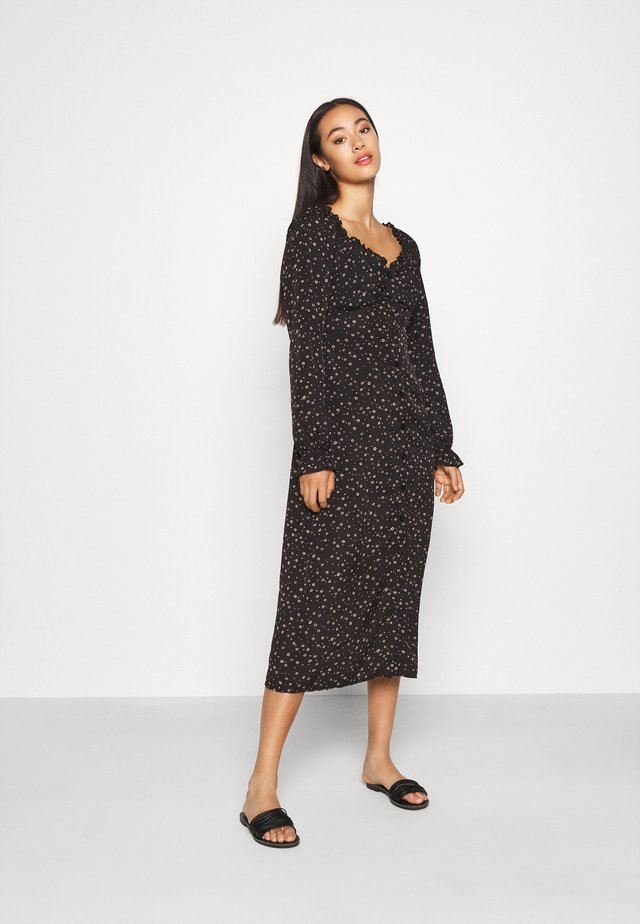 MILKMAID MIDI DRESS DITSY - Day dress - black