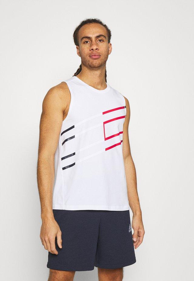 GRAPHIC TANK - Sportshirt - white