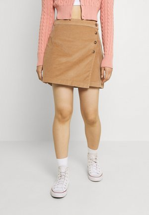 WRAP SKIRT - Minifalda - tan