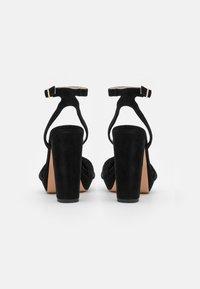 Anna Field - LEATHER - Højhælede sandaletter / Højhælede sandaler - black - 3
