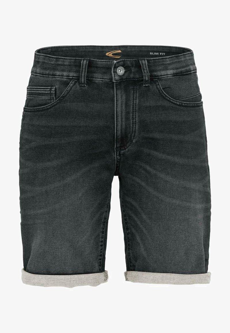 camel active - Denim shorts - black