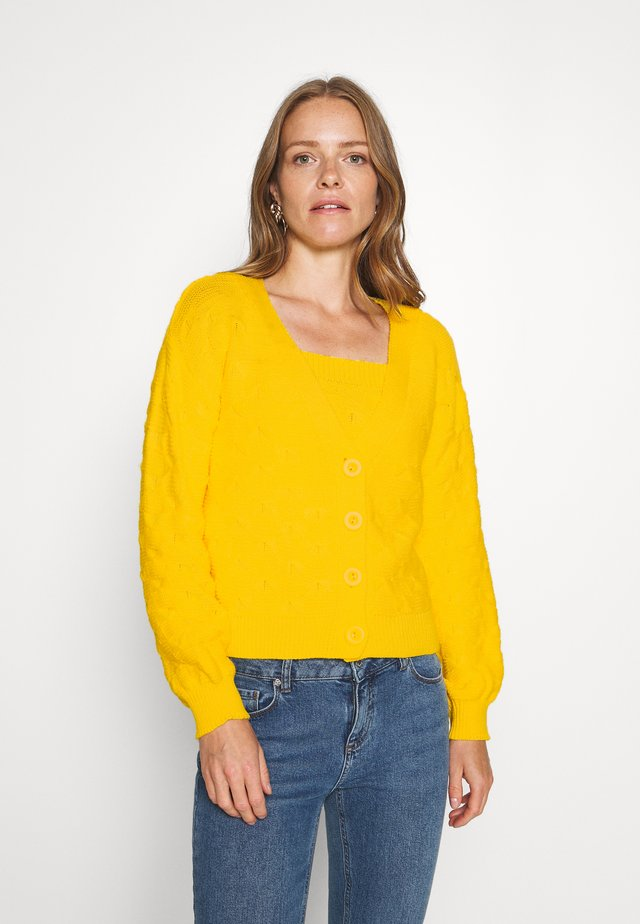 SET - Cardigan - yellow