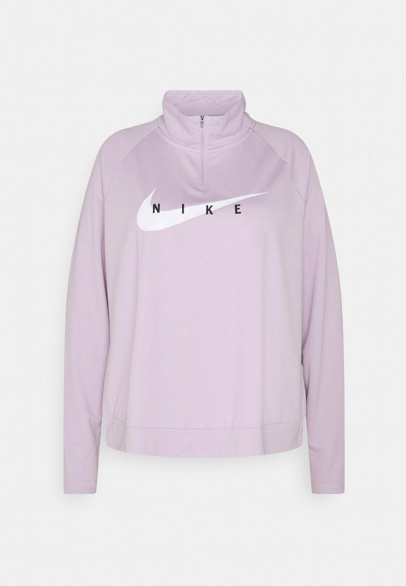 Nike Performance - RUN MIDLAYER PLUS - Sports shirt - iced lilac/white