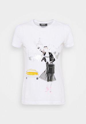 CONVERSATIONAL - T-shirt imprimé - white