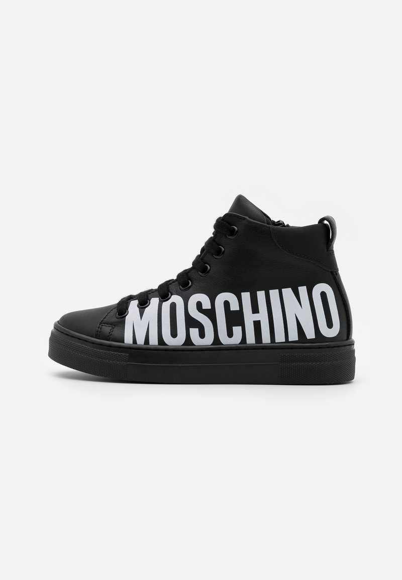MOSCHINO - High-top trainers - black