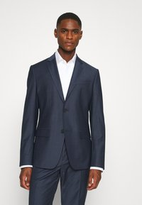 Calvin Klein Tailored - STRETCH SMALL GRID SUIT - Trousers - blue - 2