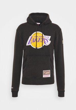 NBA LOS ANGELES LAKERS WORN LOGO WORDMARK HOODY - Fanartikel - black