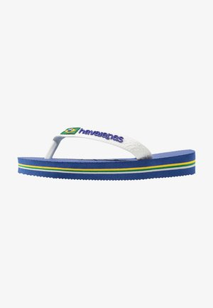 BRASIL LOGO - Chanclas de dedo - blue, white