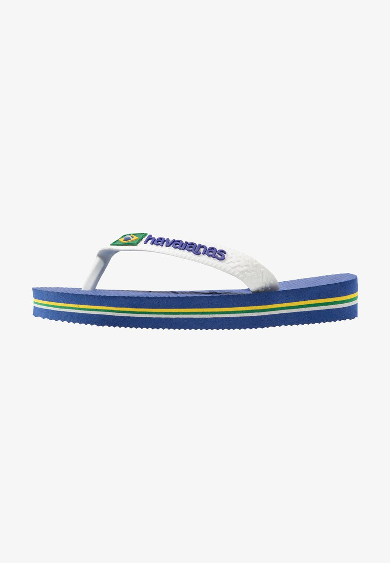 Havaianas - BRASIL LOGO - Teenslippers - blue, white