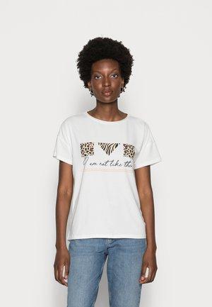 SLEEVE - Print T-shirt - offwhite