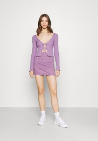 BDG Urban Outfitters - NOORI TIE FRONT - Cardigan - lilac - 1