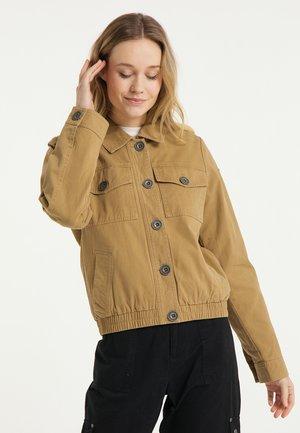 Denim jacket - dunkelsand
