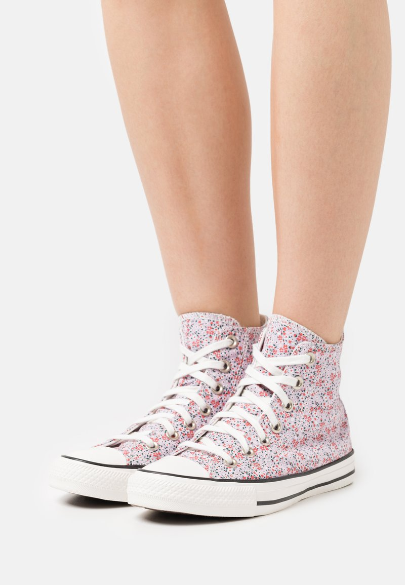 Converse - CHUCK TAYLOR ALL STAR - Zapatillas altas - vintage white/pink foam/infinite lilac